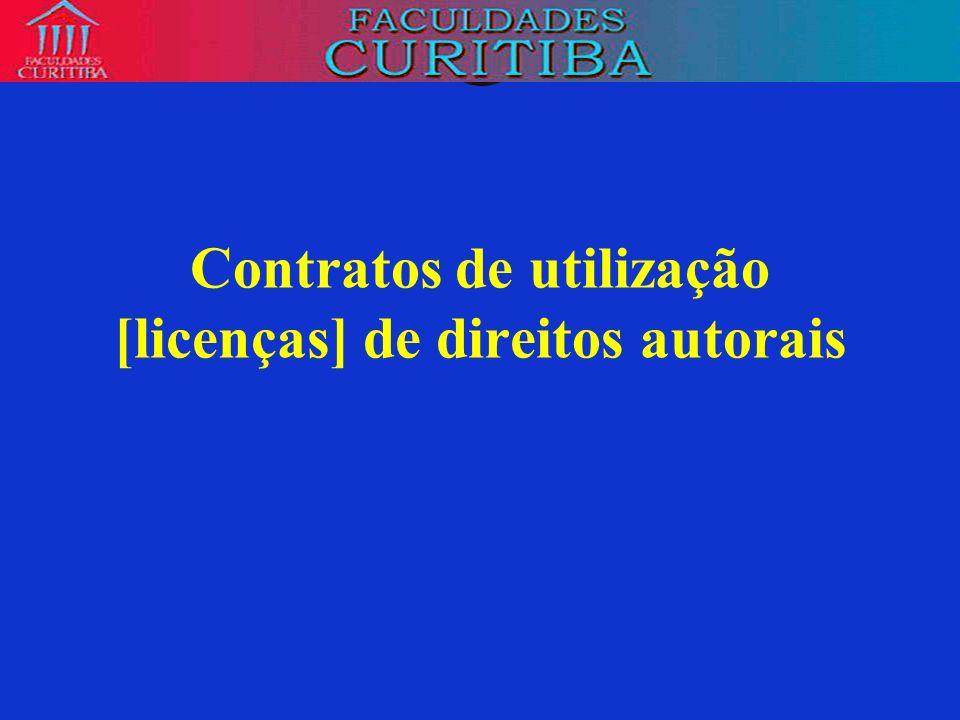 Contratos de utilização [licenças] de direitos autorais